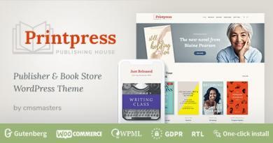 Printpress - Book Publishing WordPress Theme 2