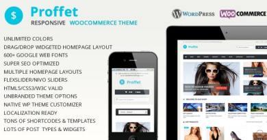 Proffet - Responsive WooCommerce Theme 2
