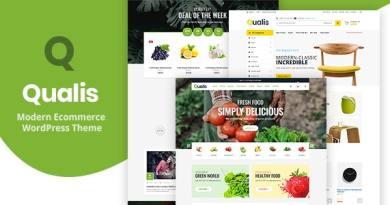 Qualis - Organic Food Responsive eCommerce WordPress Theme 3