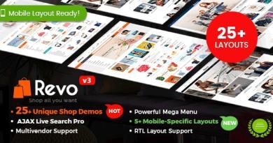 Revo - Multipurpose WooCommerce WordPress Theme (25+ Homepages & 5+ Mobile Layouts) 4