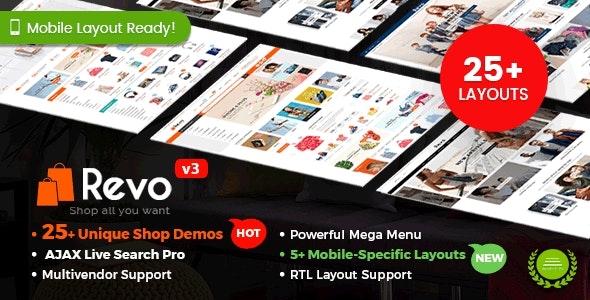 Revo - Multipurpose WooCommerce WordPress Theme (25+ Homepages & 5+ Mobile Layouts) 4