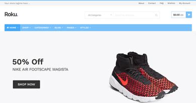 Roku - Responsive WordPress eCommerce Theme 2