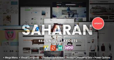SAHARAN - Responsive WordPress Theme 14