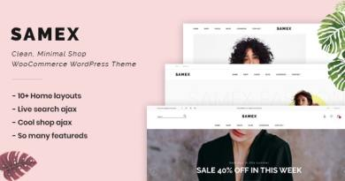 Samex - Clean, Minimal Shop WooCommerce WordPress Theme 4