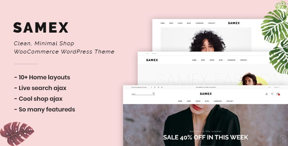 Samex - Clean, Minimal Shop WooCommerce WordPress Theme 9