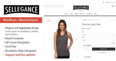 Sellegance - Responsive WooCommerce Theme 2