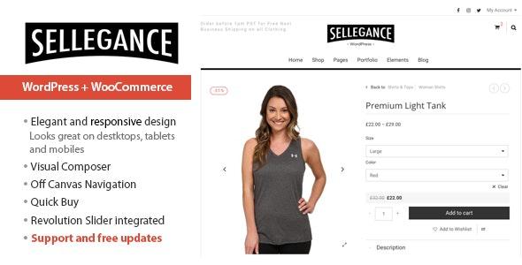 Sellegance - Responsive WooCommerce Theme 1