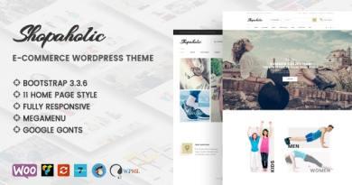 Shopaholic - Responsive Multipurpose eCommerce WordPress Theme 49