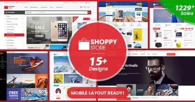 ShoppyStore - Multipurpose Responsive WooCommerce WordPress Theme (15+ Homepages & 3 Mobile Layouts) 2