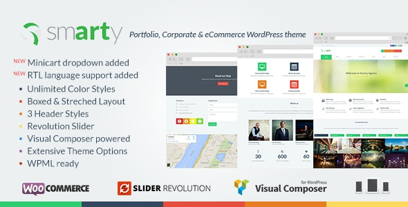 Smarty Portfolio & Shop WordPress Theme 2