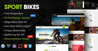 Sportbikes - Sports and Fitness Store WooCommerce WordPress Theme 4