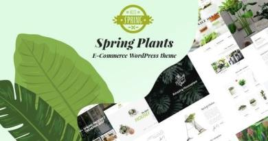 Spring Plants - Gardening & Houseplants WordPress Theme 2