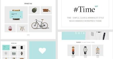 Time - Minimalist WooCommerce WordPress Theme 3
