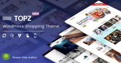 TopZ - Top Food Store & Sport Fashion Shop WordPress WooCommerce Theme 2