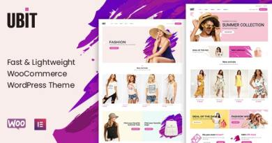 Ubit - Fashion Store WooCommerce Theme 4