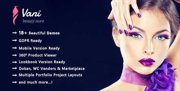 Vani | Cosmetic Beauty WooCommerce WordPress Theme 1