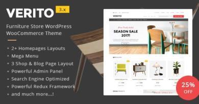 Verito - Furniture Store WooCommerce WordPress Theme 3