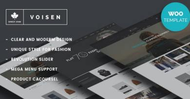 Voisen - WooCommerce Responsive Fashion Theme 2