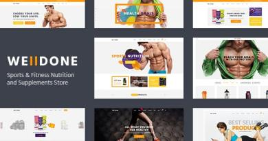 Welldone - Sports & Fitness Nutrition and Supplements Store WordPress Theme 3