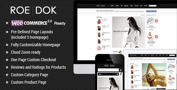 WooCommerce WordPress Theme - RoeDok 1