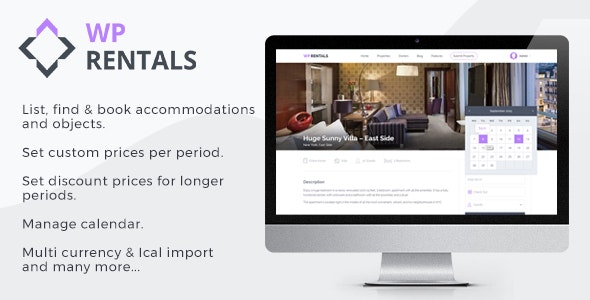 WP Rentals - Booking Accommodation WordPress Theme 1