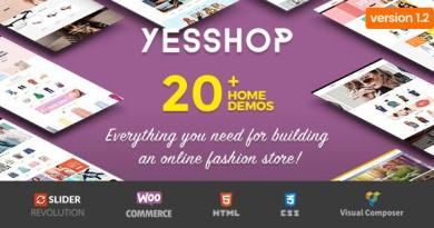Yesshop - Responsive Multipurpose WordPress WooCommerce Theme 3