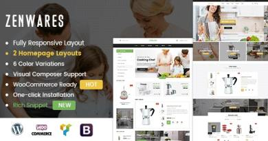 Zenwares - Kitchen Interior & Appliances WooCommerce WordPress Theme 4