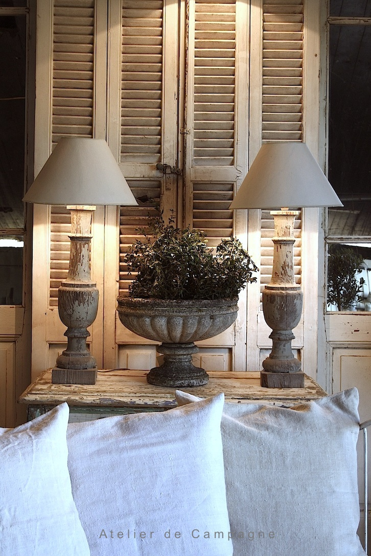 #18/249 Pair of Wooden Baluster Lamps