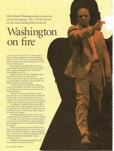 BAFTA - Denzel Washington interview 1