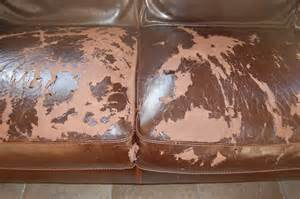 Peeling bonded leather couch