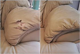 Leather Couch Repair - Residential Vinyl & Leather care services