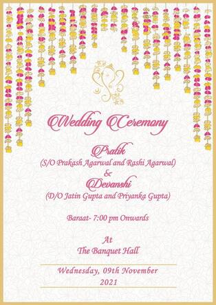 royal indian wedding invitation cards