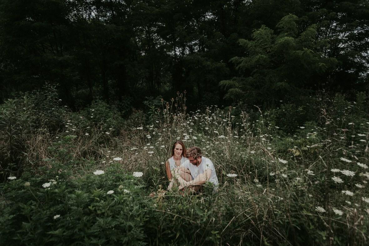 Josephine Sculpture Park Frankfort Engagement Photographer