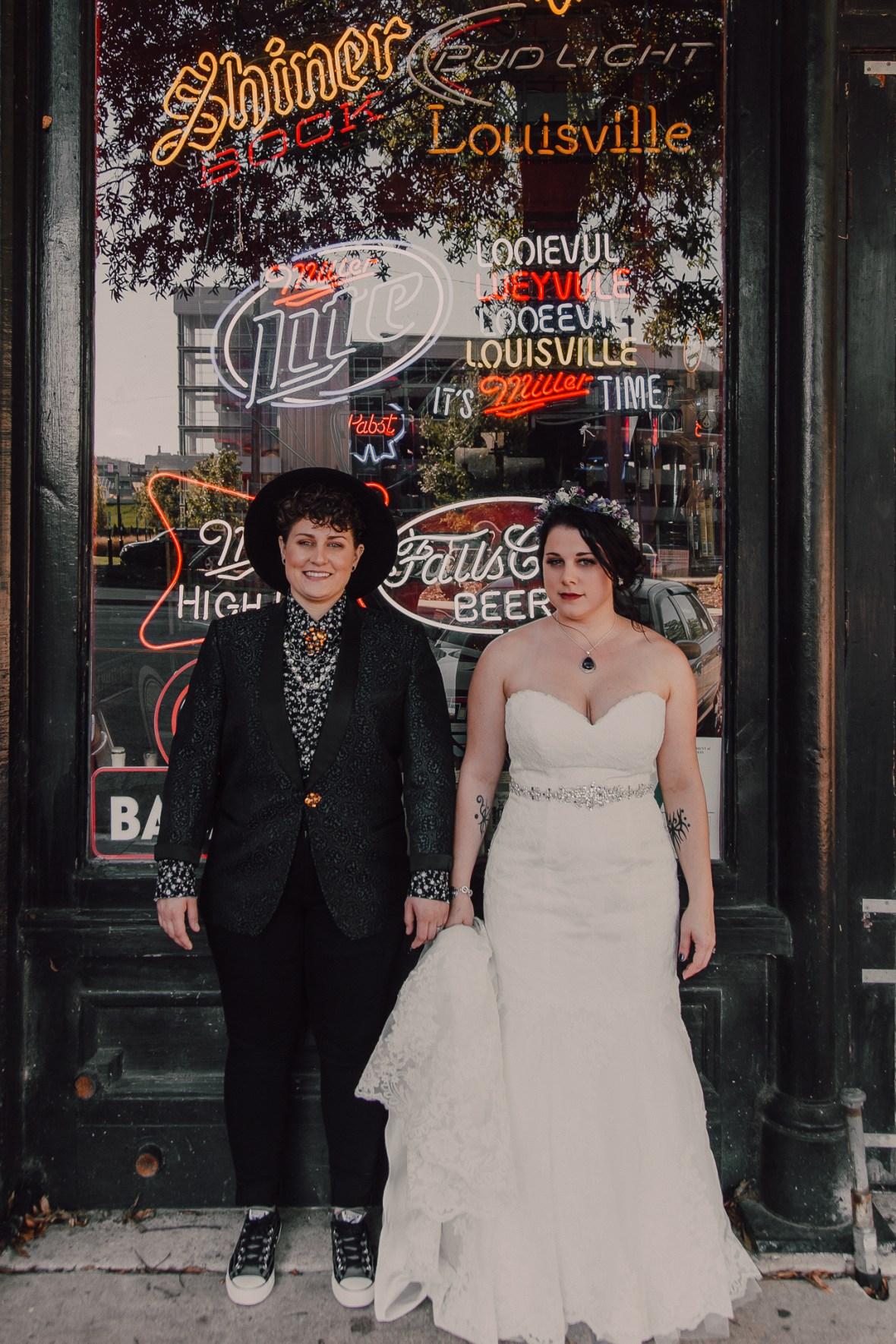 Haymarket Whiskey Bar Louisville Kentucky Wedding Photographer
