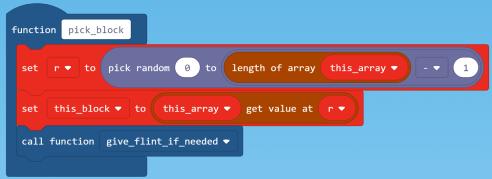 pick block code