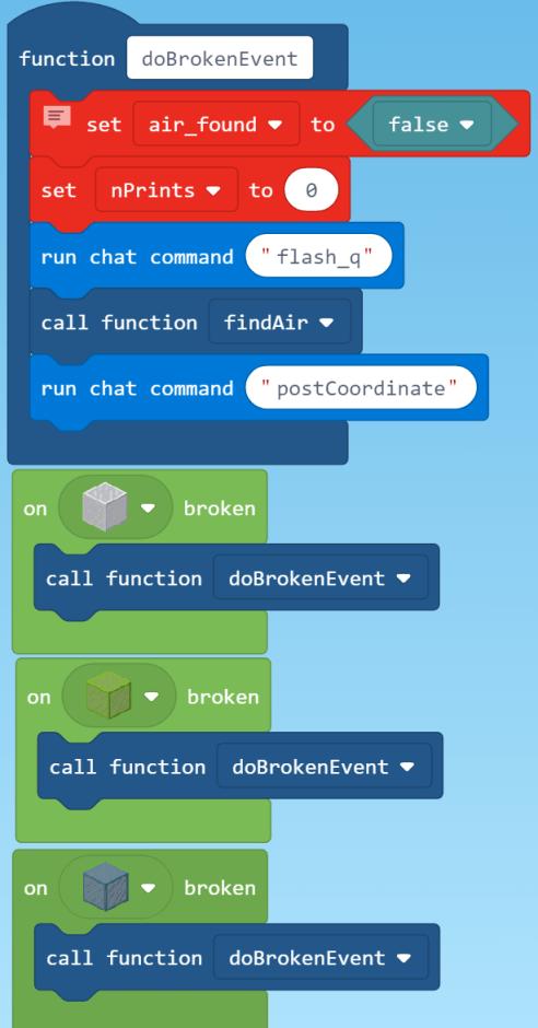 on break code