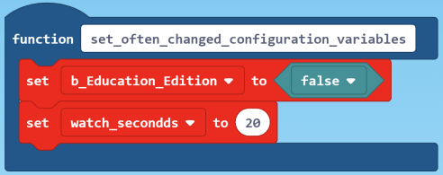 configuration vars