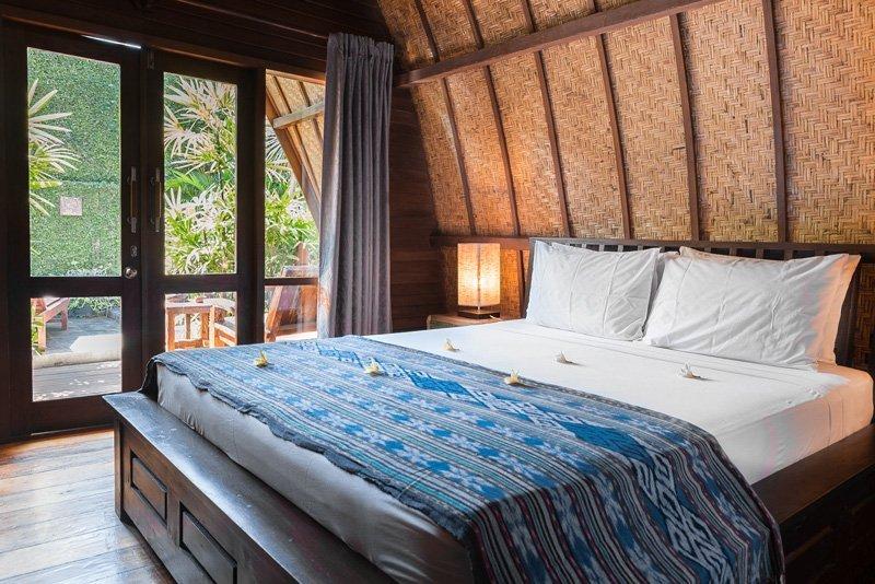 Habitacion en un bungalow tipico de las islas Gili - Pantai Karang, Gili Trawangan