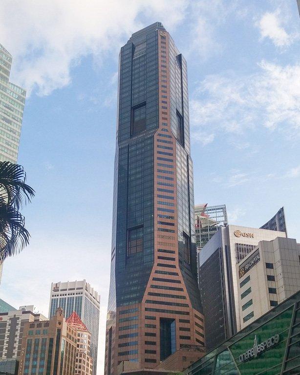 Torre Republic Plaza en la Raffles Place, Singapore