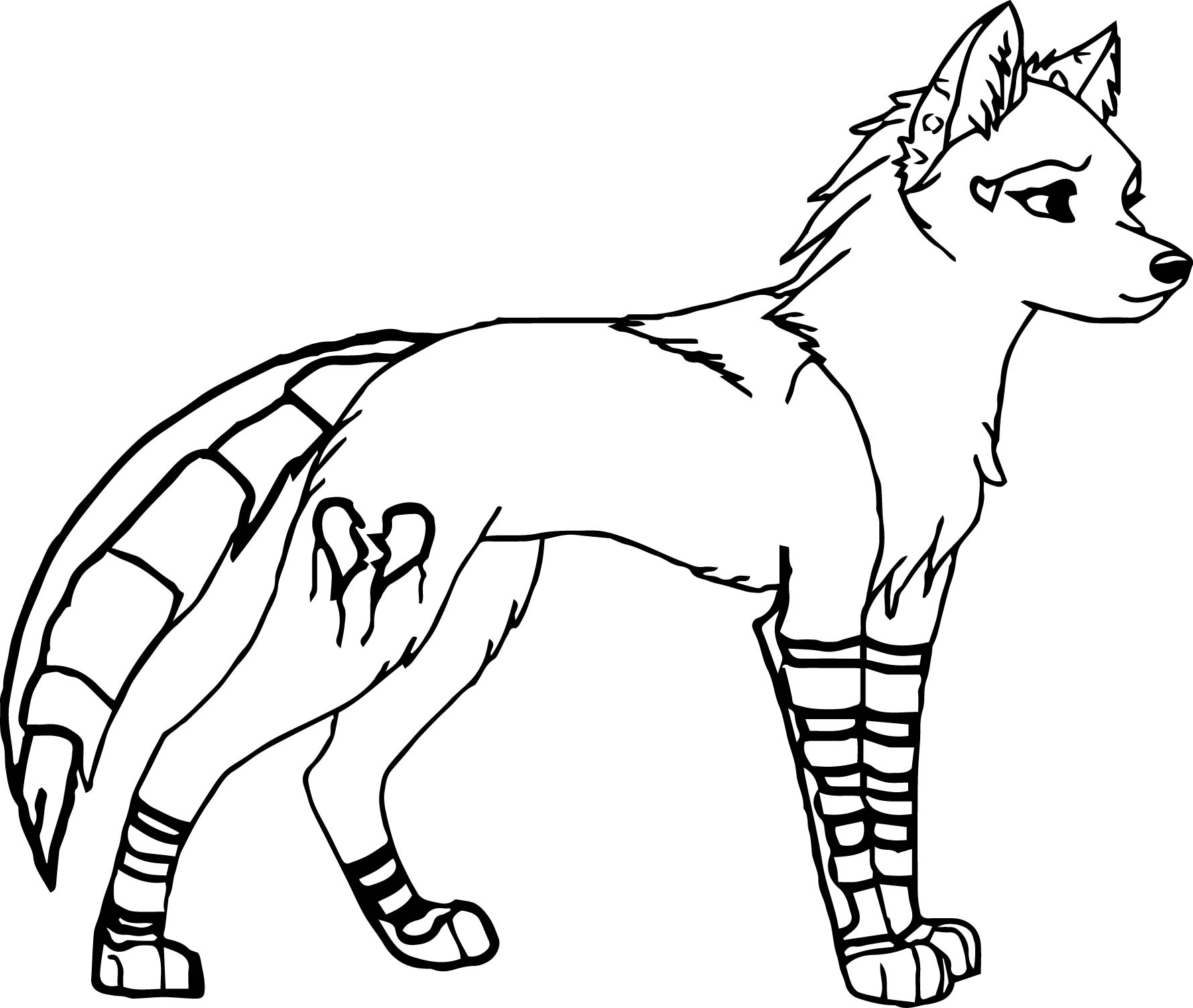 cartoon wolf coloring page 02 wecoloringpage
