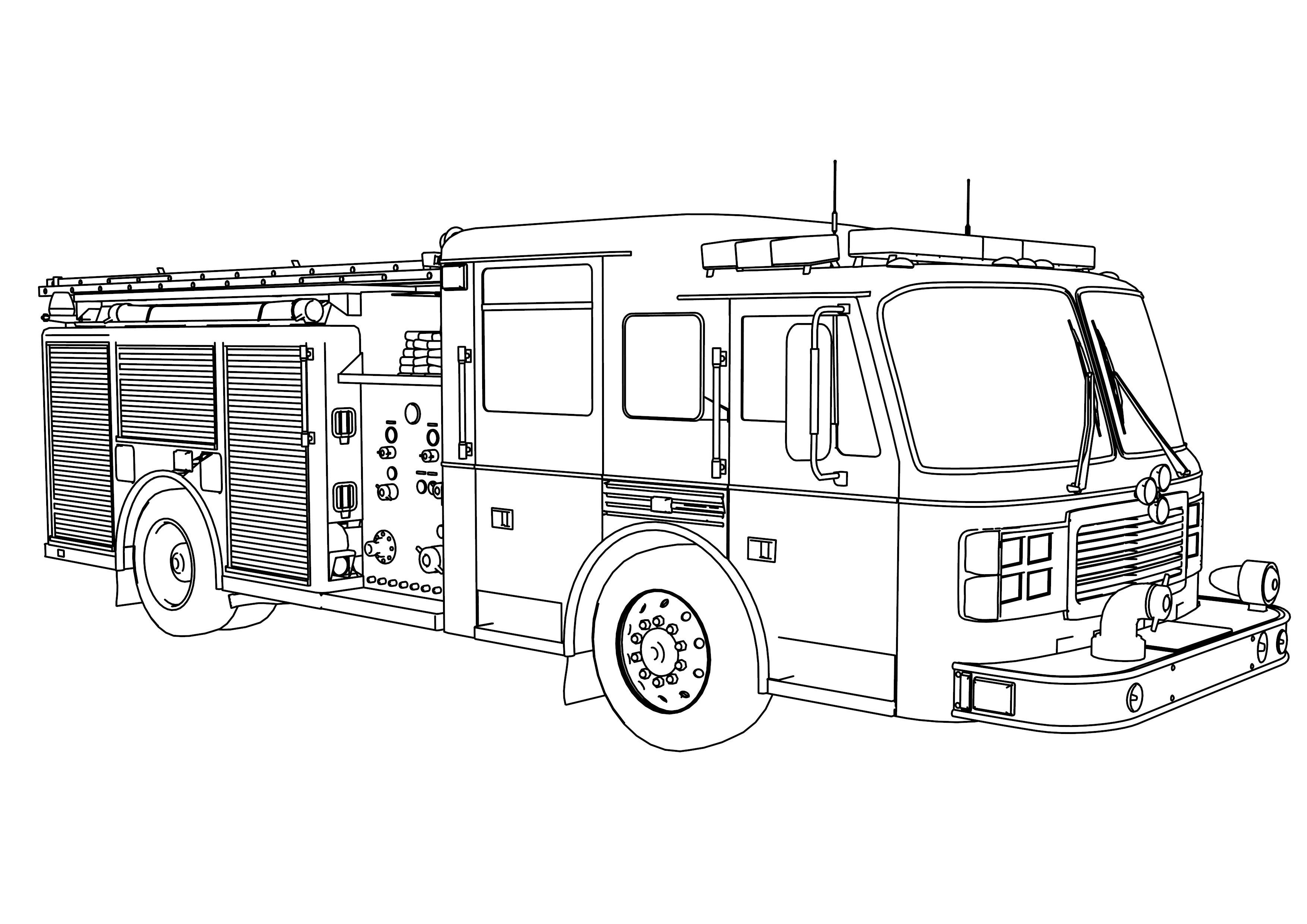 fire truck coloring pages wecoloringpage