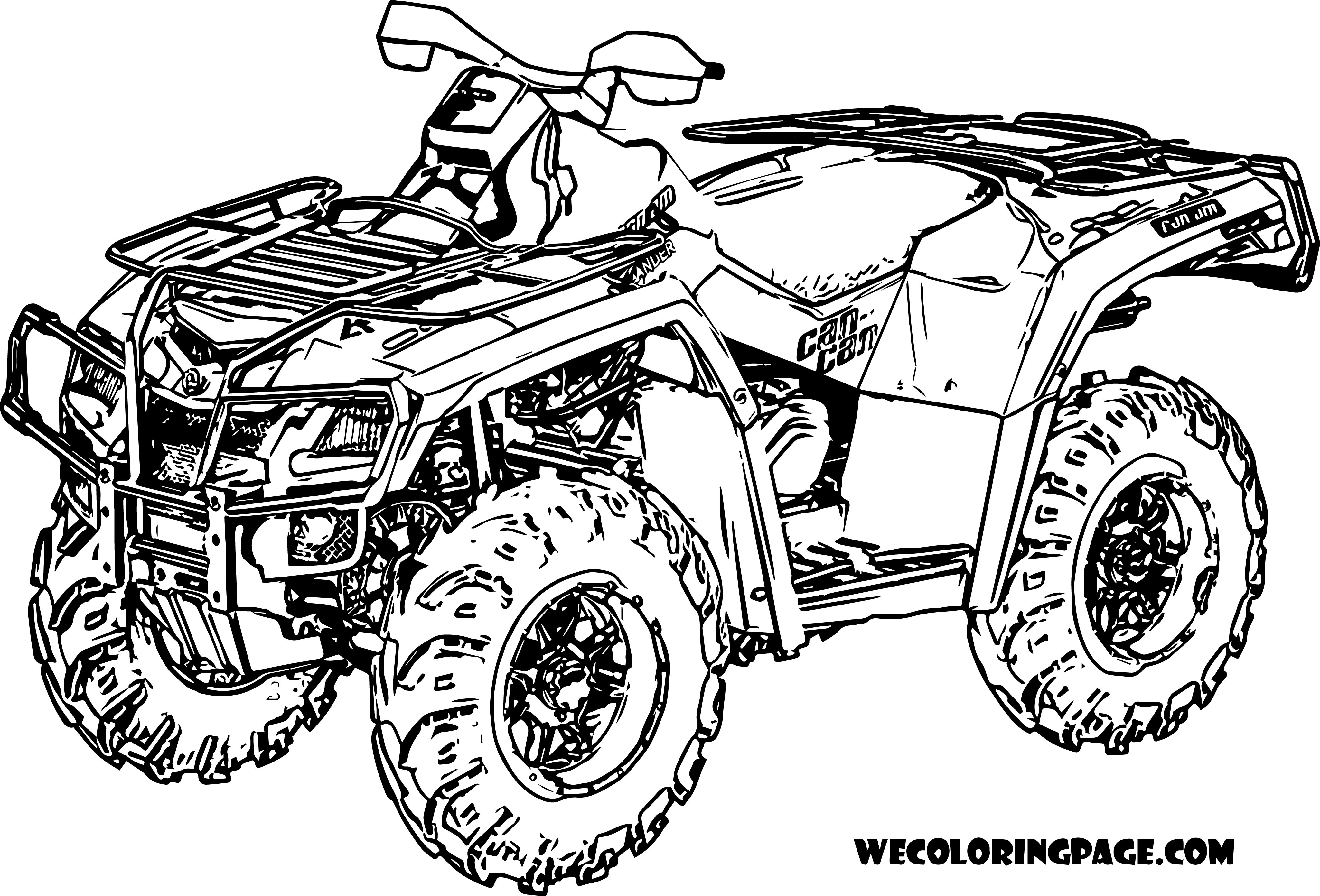 Four Wheeler Coloring Pages Coloring Pages