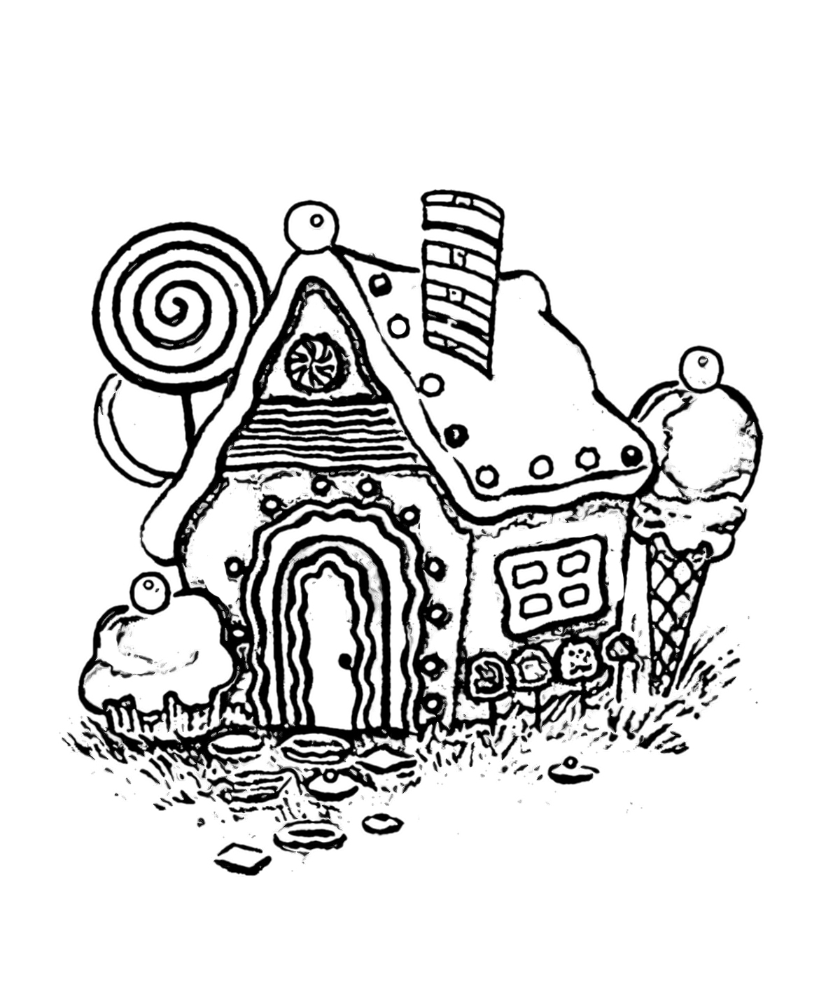 Gingerbread House Coloring Pages Wecoloringpage