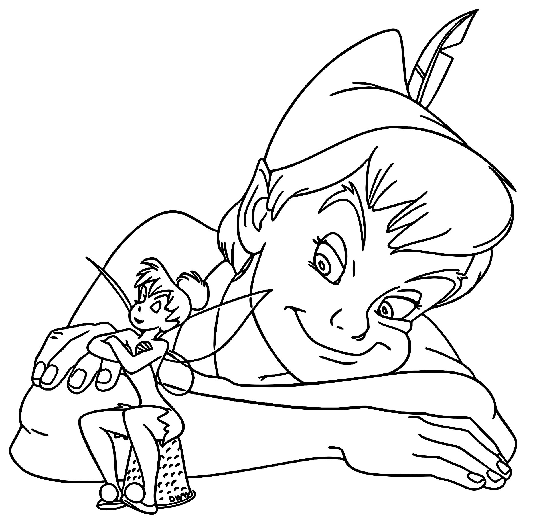 Peter Pan Amp Tinker Bell Coloring Pages
