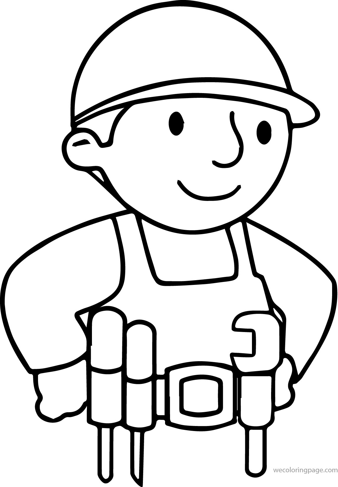 Builder Coloring Pages