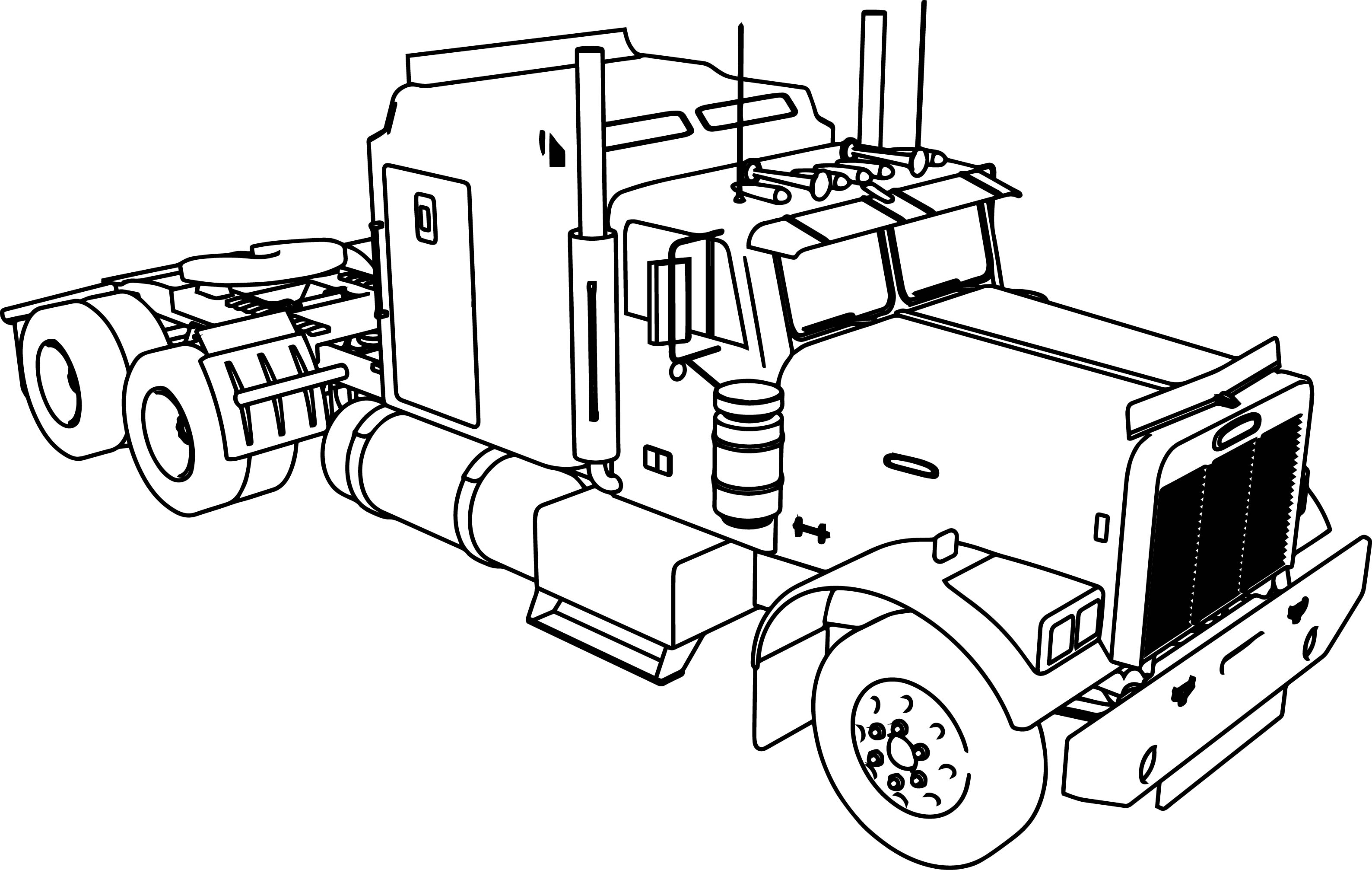 here home semi semi. tractor coloring pages to print tractor ...