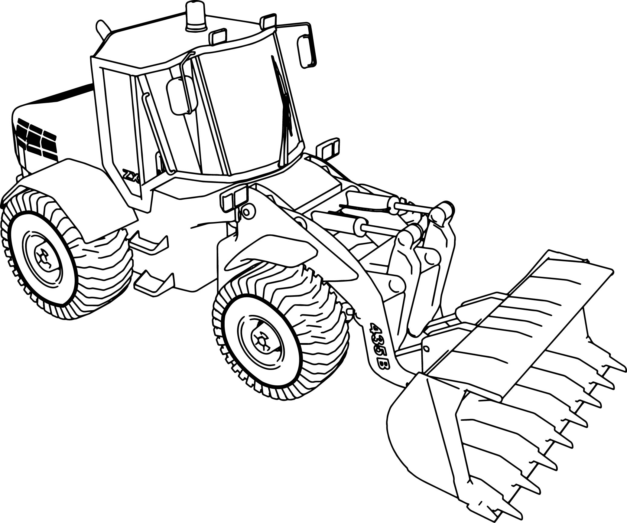 Digger Moving Parts Craft Sketch Coloring Page