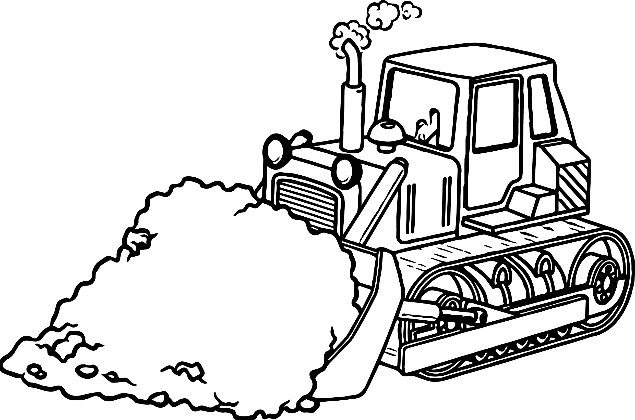 Simple Bulldozer Coloring Pages
