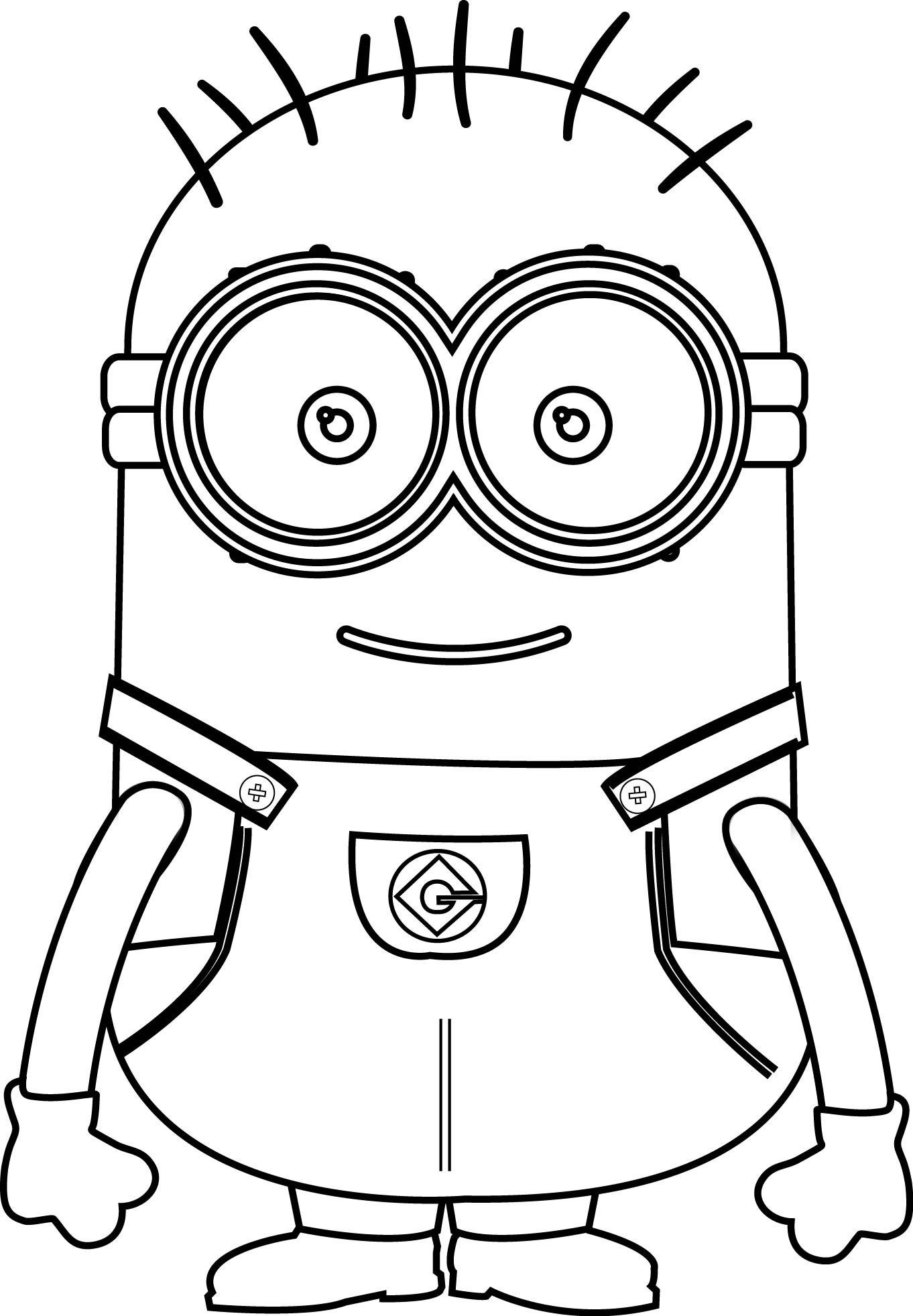 Happy Holidays Minion Coloring Pages Happy Best Free