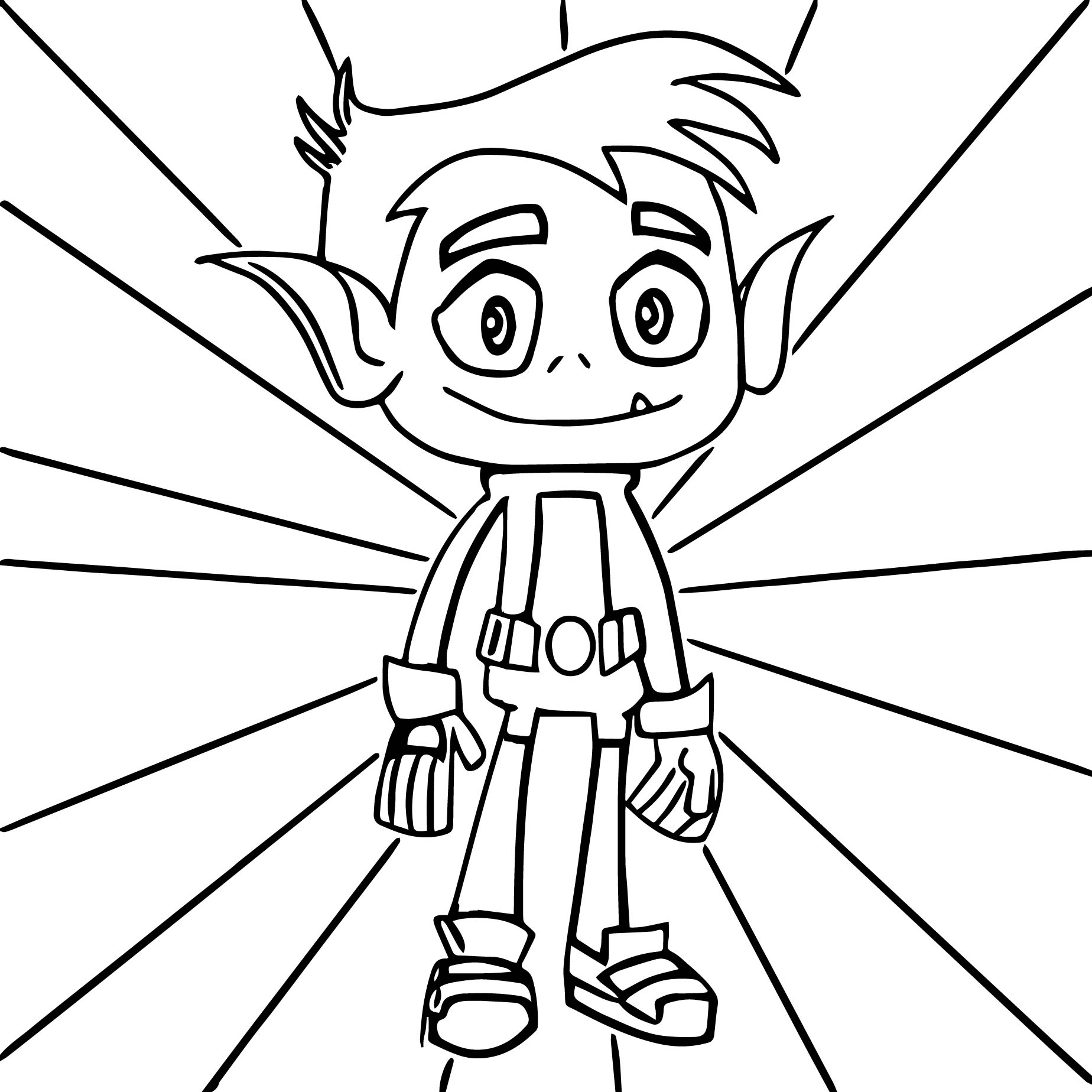 teen titans go beast boy coloring pages wecoloringpage - Boys Coloring Page